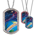 Full Color GEM Planets Dog Tag