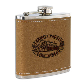 Leather/Stainless Fair, Festival & 4-H Award Flask