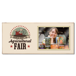 Vintage Full Color Custom Fair, Festival & 4-H Plaque w/ Frame
