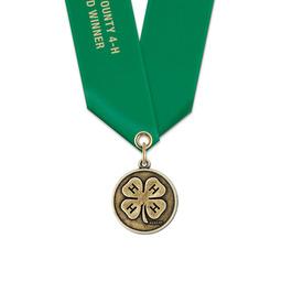 CX Fair, Festival & 4-H Award Medal w/ Satin Neck Ribbon