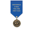 CX Fair, Festival & 4-H Award Medal w/ Satin Drape Ribbon