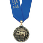 HBX Fair, Festival & 4-H Award Medal w/ Satin Neck Ribbon