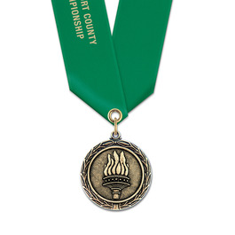 LX Fair, Festival & 4-H Award Medal w/ Satin Neck Ribbon - OUR MOST POPULAR MEDAL