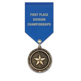 LX Fair, Festival & 4-H Award Medal w/ Satin Drape Ribbon