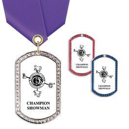GEM Tag Fair, Festival & 4-H Award Medal w/ Satin Neck Ribbon