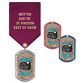 GEM Tag Fair, Festival & 4-H Award Medal w/ Satin Drape