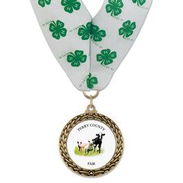 LFL Fair, Festival & 4-H Award Medal w/ Millennium Neck Ribbon