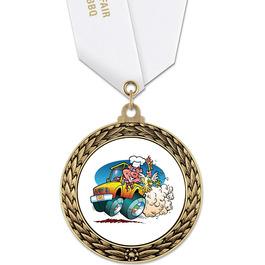 GFL Fair, Festival & 4-H Award Medal w/ Satin Neck Ribbon