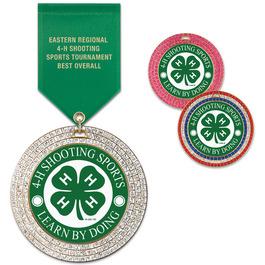 GEM Fair, Festival & 4-H Award Medal w/ Satin Drape