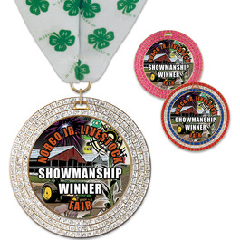 GEM Fair, Festival & 4-H Award Medal w/ Millennium Neck Ribbon
