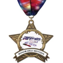 AS14 All Star Fair, Festival & 4-H Award Medal w/ Millennium Neck Ribbon