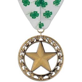 Rising Star Fair, Festival & 4-H Award Medal w/ Millennium Neck Ribbon