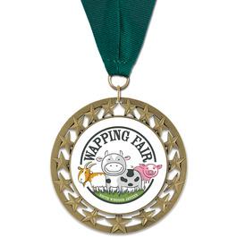RS14 Fair, Festival & 4-H Award Medal w/ Grosgrain Neck Ribbon