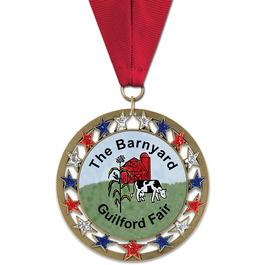 RSG Fair, Festival & 4-H Award Medal w/ Grosgrain Neck Ribbon