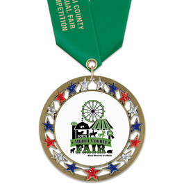 RSG Fair, Festival & 4-H Award Medal w/ Satin Neck Ribbon