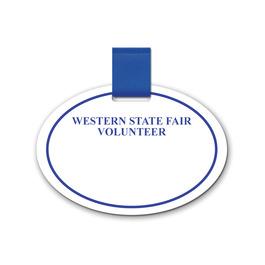 Oval Fair, Festival & 4-H Pin-On Name Tag