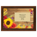 Flowers Award Plaque - Cherry Finish