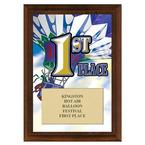First Place Fair, Festival & 4-H Award Plaque - Cherry Finish