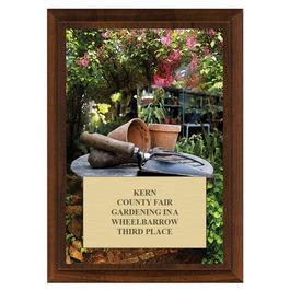 Gardening Fair, Festival & 4-H Award Plaque - Cherry Finish