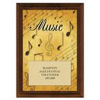 Music Award Plaque - Cherry Finish