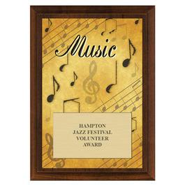 Music Fair, Festival & 4-H Award Plaque - Cherry Finish