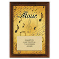 Music Award Plaque - Cherry Finish
