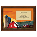 Red Barn Award Plaque - Cherry Finish