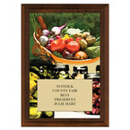 Vegetable and Canning Fair, Festival & 4-H Award Plaque - Cherry Finish