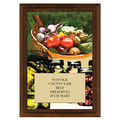 Vegetables and Canning Award Plaque - Cherry Finish