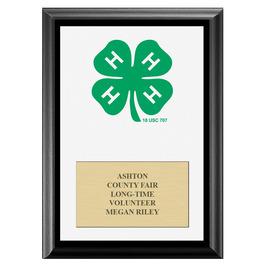 4-H Clover Fair Award Plaque - Black Finish