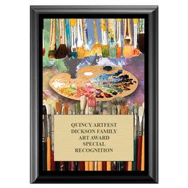 Art Brushes Fair, Festival & 4-H Award Plaque - Black Finish