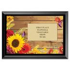 Flowers Fair, Festival & 4-H Award Plaque - Black Finish