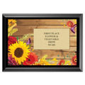 Flowers Award Plaque - Black
