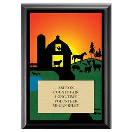 Farm Fair, Festival & 4-H Award Plaque - Black Finish