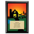 Farm Award Plaque - Black
