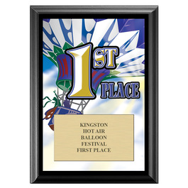 First Place Award Plaque - Black Finish