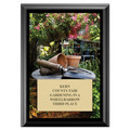 Gardening Award Plaque - Black