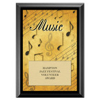 Music Fair, Festival & 4-H Award Plaque - Black Finish