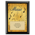 Music Award Plaque - Black