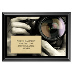 Photo Lense Fair, Festival & 4-H Award Plaque - Black Finish