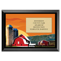 Red Barn Award Plaque - Black