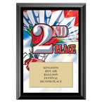Second Place Fair, Festival & 4-H Award Plaque - Black Finish