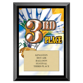 Third Place Fair, Festival & 4-H Award Plaque - Black Finish