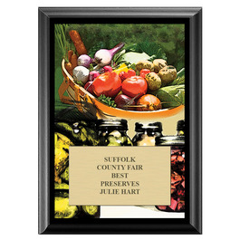 Vegetable and Canning Fair, Festival & 4-H Award Plaque - Black Finish