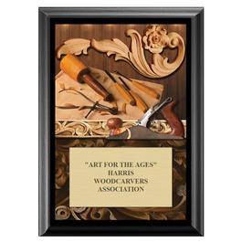 Woodcarving Fair, Festival & 4-H Award Plaque - Black Finish