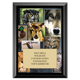Wildlife Fair, Festival & 4-H Award Plaque - Black Finish