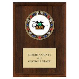 RSG Fair, Festival & 4-H Award Medal Plaque - Cherry Finish