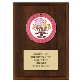 GEM Fair, Festival & 4-H Medal Award Plaque - Cherry Finish