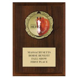 XBX Fair, Festival & 4-H Medal Award Plaque - Cherry Finish