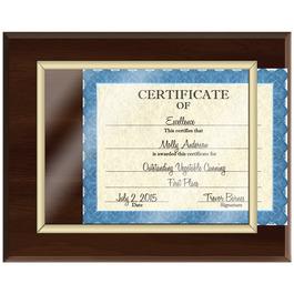 Certificate Plaque - Cherry